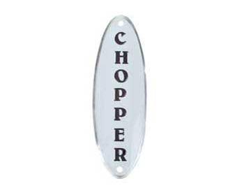 """наклейка-шильдик """"Chopper"""" белая"""