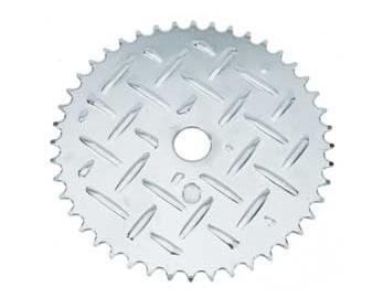 Звезда Lowrider 44зуб., под BMX систему, цвет - алюминиевый рифл