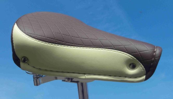 Седло Bicolor 70s темно коричневое