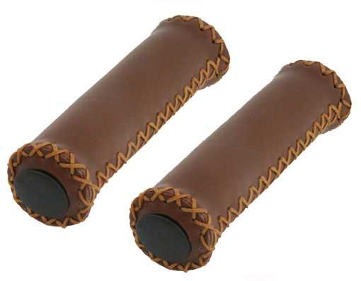 Грипсы Lowrider кож/зам, коричневые