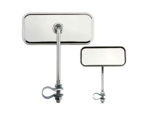 Зеркало прямоугольное стальное, хром