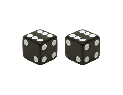 """Колпачки на ниппель """"Кубик черный"""""""