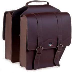 Ретро сумка на багажник , темнокоричневая