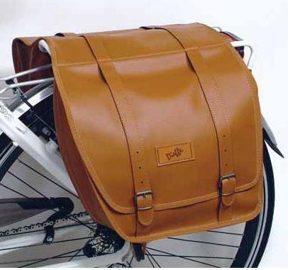 Ретро сумка на багажник , коричневая