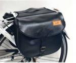 Ретро сумка на багажник , черная -