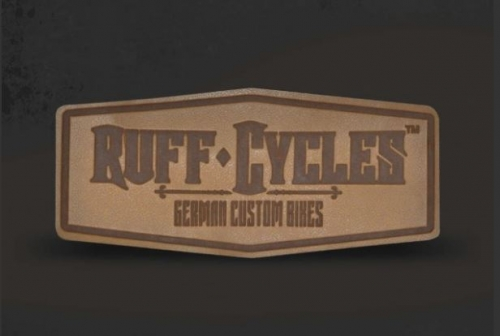 "Нашивка ""Ruff Cycles"" , коричневый"