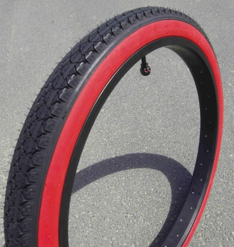 "Покрышка ""Street KING"" Cruiser Redwall Balloon Tire 26 x 2.125"