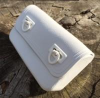 Винтажная сумка под инструмент , белая