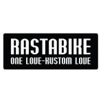 "нашивка ""rastabike - one love - kustom love"" 10смх4см"