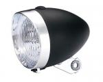 Фара Vintage LED 70 хром/черный, 3 диода