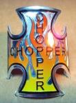 """Накалейка-шильдик мальтийский крест """"Chopper"""""""