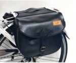 Ретро сумка на багажник , черная